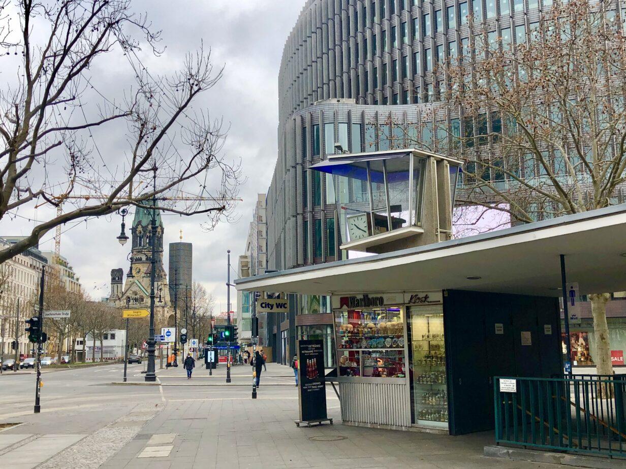Verkehrskanzel am Joachismthaler Platz