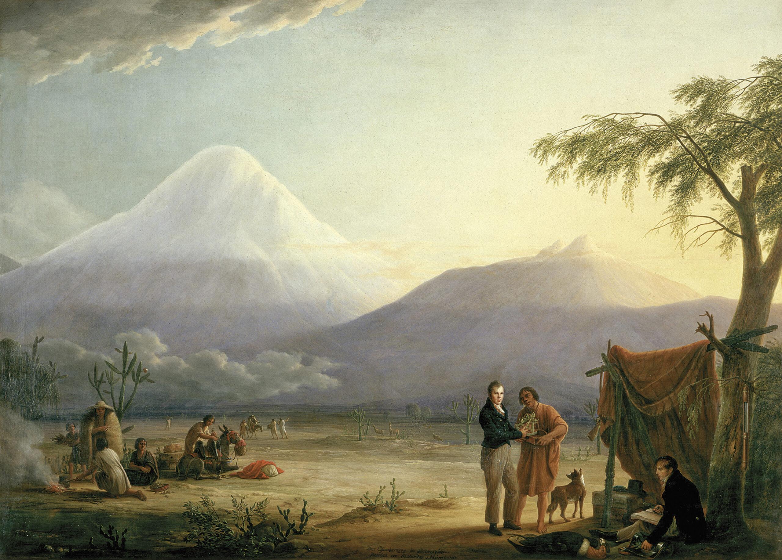 Humboldt und Bonpland am Fuß des Chimborazo in Ecuador
